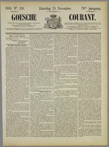 Goessche Courant 1883-11-24