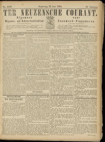 Ter Neuzensche Courant. Algemeen Nieuws- en Advertentieblad voor Zeeuwsch-Vlaanderen / Neuzensche Courant ... (idem) / (Algemeen) nieuws en advertentieblad voor Zeeuwsch-Vlaanderen 1904-06-23