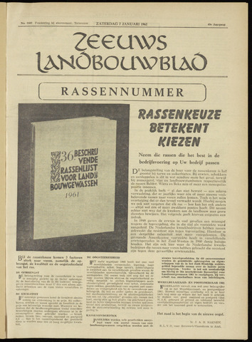 Zeeuwsch landbouwblad ... ZLM land- en tuinbouwblad 1961-01-07