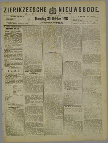 Zierikzeesche Nieuwsbode 1916-10-30