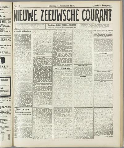 Nieuwe Zeeuwsche Courant 1912-11-05