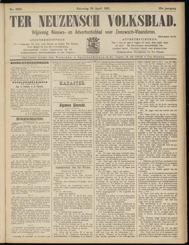 Ter Neuzensch Volksblad. Vrijzinnig nieuws- en advertentieblad voor Zeeuwsch- Vlaanderen / Zeeuwsch Nieuwsblad. Nieuws- en advertentieblad voor Zeeland 1911-04-29