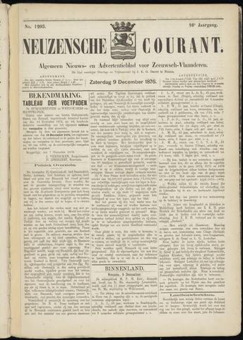 Ter Neuzensche Courant. Algemeen Nieuws- en Advertentieblad voor Zeeuwsch-Vlaanderen / Neuzensche Courant ... (idem) / (Algemeen) nieuws en advertentieblad voor Zeeuwsch-Vlaanderen 1876-12-09