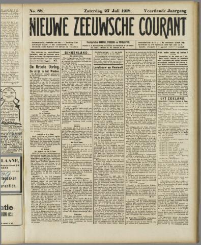 Nieuwe Zeeuwsche Courant 1918-07-27