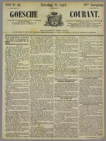 Goessche Courant 1881-04-16