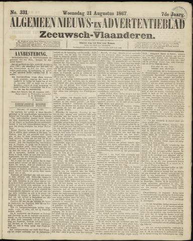 Ter Neuzensche Courant. Algemeen Nieuws- en Advertentieblad voor Zeeuwsch-Vlaanderen / Neuzensche Courant ... (idem) / (Algemeen) nieuws en advertentieblad voor Zeeuwsch-Vlaanderen 1867-08-21