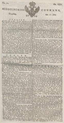 Middelburgsche Courant 1771-06-11