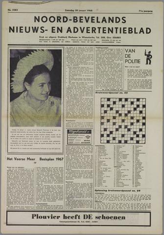 Noord-Bevelands Nieuws- en advertentieblad 1968-01-20
