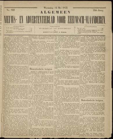 Ter Neuzensche Courant. Algemeen Nieuws- en Advertentieblad voor Zeeuwsch-Vlaanderen / Neuzensche Courant ... (idem) / (Algemeen) nieuws en advertentieblad voor Zeeuwsch-Vlaanderen 1873-05-14