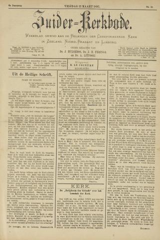 Zuider Kerkbode, Weekblad gewijd aan de belangen der gereformeerde kerken in Zeeland, Noord-Brabant en Limburg. 1897-03-12