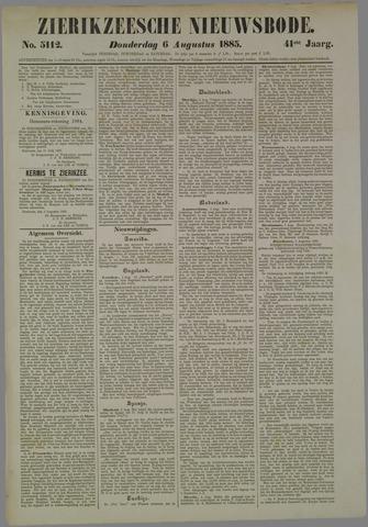 Zierikzeesche Nieuwsbode 1885-08-06