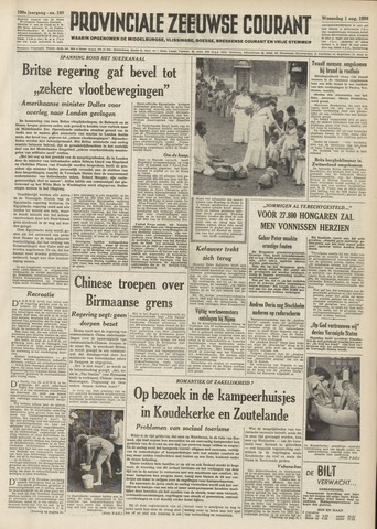 Provinciale Zeeuwse Courant 1956-08-01