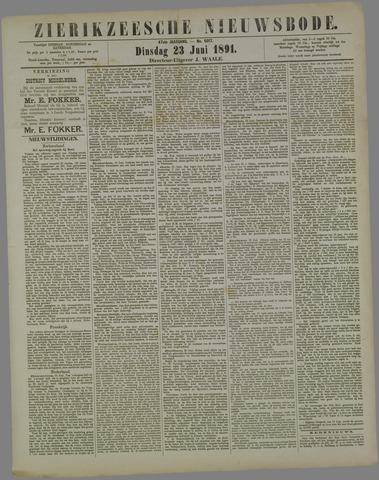 Zierikzeesche Nieuwsbode 1891-06-23