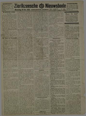 Zierikzeesche Nieuwsbode 1925-12-30