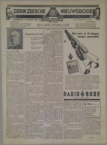Zierikzeesche Nieuwsbode 1936