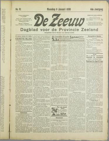De Zeeuw. Christelijk-historisch nieuwsblad voor Zeeland 1930-01-06