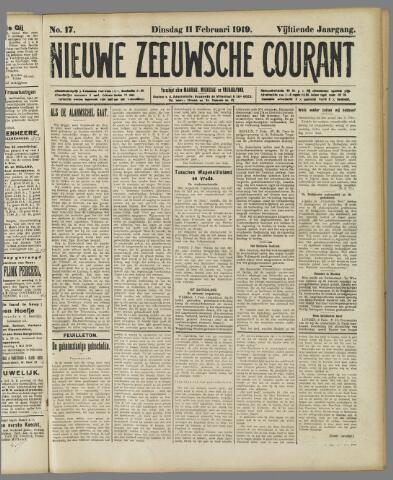 Nieuwe Zeeuwsche Courant 1919-02-11