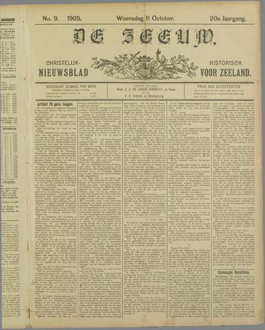 De Zeeuw. Christelijk-historisch nieuwsblad voor Zeeland 1905-10-11