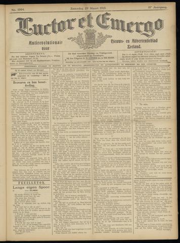 Luctor et Emergo. Antirevolutionair nieuws- en advertentieblad voor Zeeland / Zeeuwsch-Vlaanderen. Orgaan ter verspreiding van de christelijke beginselen in Zeeuwsch-Vlaanderen 1913-03-29