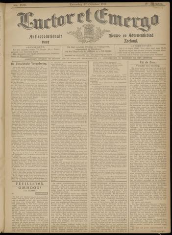 Luctor et Emergo. Antirevolutionair nieuws- en advertentieblad voor Zeeland / Zeeuwsch-Vlaanderen. Orgaan ter verspreiding van de christelijke beginselen in Zeeuwsch-Vlaanderen 1917-10-27