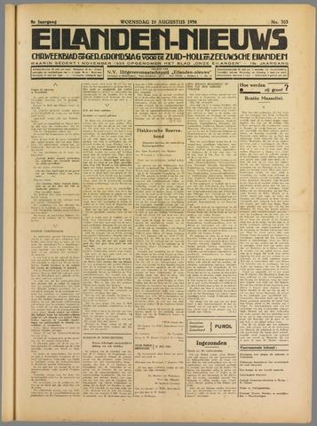 Eilanden-nieuws. Christelijk streekblad op gereformeerde grondslag 1936-08-19