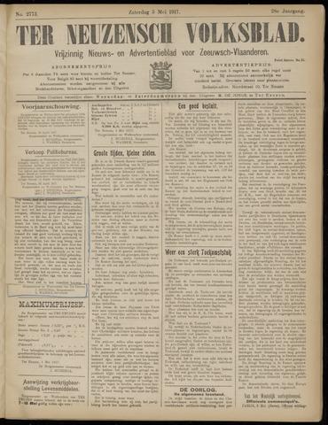 Ter Neuzensch Volksblad. Vrijzinnig nieuws- en advertentieblad voor Zeeuwsch- Vlaanderen / Zeeuwsch Nieuwsblad. Nieuws- en advertentieblad voor Zeeland 1917-05-05