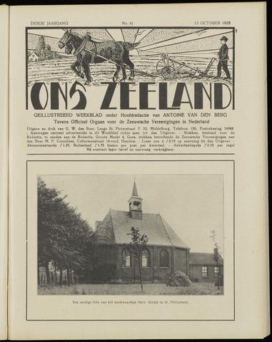 Ons Zeeland / Zeeuwsche editie 1928-10-13