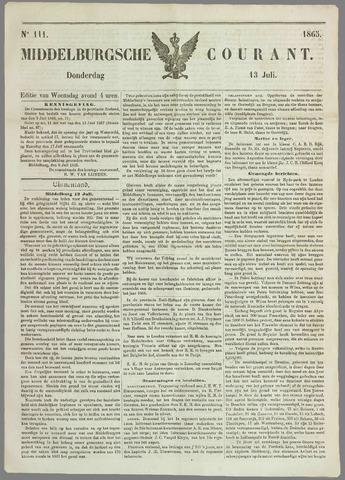 Middelburgsche Courant 1865-07-13