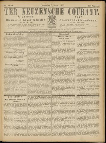 Ter Neuzensche Courant. Algemeen Nieuws- en Advertentieblad voor Zeeuwsch-Vlaanderen / Neuzensche Courant ... (idem) / (Algemeen) nieuws en advertentieblad voor Zeeuwsch-Vlaanderen 1905-03-02
