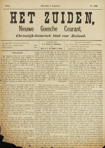 Het Zuiden, Christelijk-historisch blad 1885-08-08