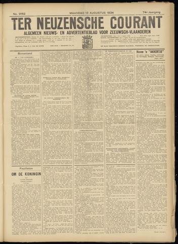 Ter Neuzensche Courant. Algemeen Nieuws- en Advertentieblad voor Zeeuwsch-Vlaanderen / Neuzensche Courant ... (idem) / (Algemeen) nieuws en advertentieblad voor Zeeuwsch-Vlaanderen 1934-08-13