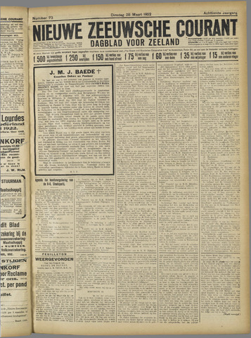 Nieuwe Zeeuwsche Courant 1922-03-28