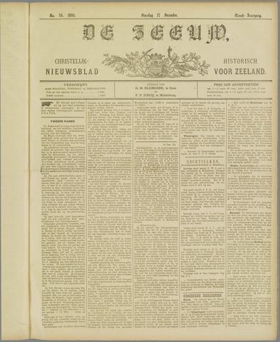De Zeeuw. Christelijk-historisch nieuwsblad voor Zeeland 1895-12-17