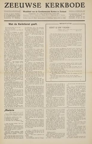 Zeeuwsche kerkbode, weekblad gewijd aan de belangen der gereformeerde kerken/ Zeeuwsch kerkblad 1957-02-15