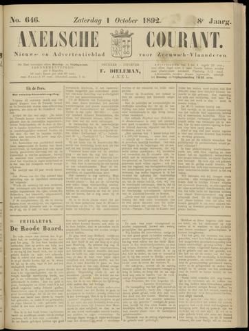 Axelsche Courant 1892-10-01
