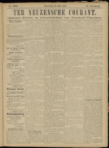 Ter Neuzensche Courant. Algemeen Nieuws- en Advertentieblad voor Zeeuwsch-Vlaanderen / Neuzensche Courant ... (idem) / (Algemeen) nieuws en advertentieblad voor Zeeuwsch-Vlaanderen 1919-05-31