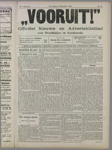 """""""Vooruit!""""Officieel Nieuws- en Advertentieblad voor Overflakkee en Goedereede 1911-12-06"""