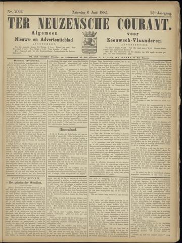 Ter Neuzensche Courant. Algemeen Nieuws- en Advertentieblad voor Zeeuwsch-Vlaanderen / Neuzensche Courant ... (idem) / (Algemeen) nieuws en advertentieblad voor Zeeuwsch-Vlaanderen 1885-06-06
