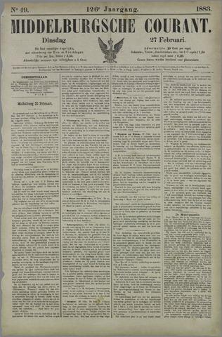 Middelburgsche Courant 1883-02-27