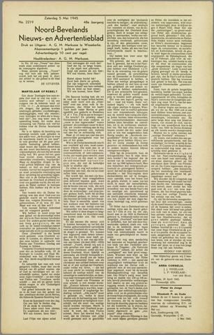 Noord-Bevelands Nieuws- en advertentieblad 1945-05-05
