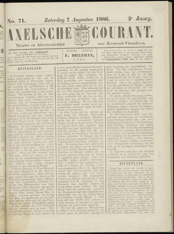 Axelsche Courant 1886-08-07