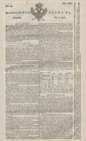 Middelburgsche Courant 1761-04-07
