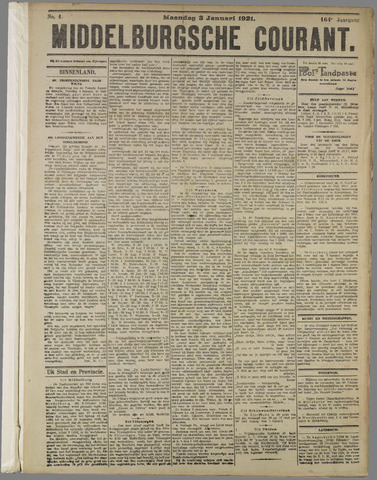 Middelburgsche Courant 1921-01-03