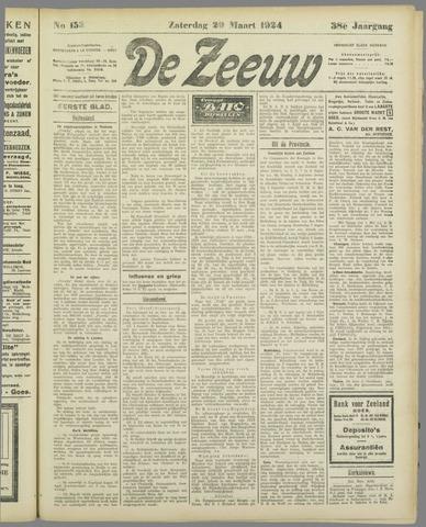 De Zeeuw. Christelijk-historisch nieuwsblad voor Zeeland 1924-03-29