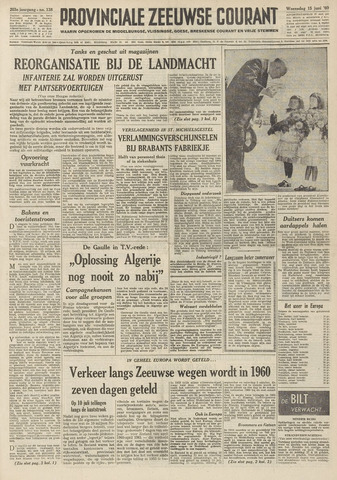 Provinciale Zeeuwse Courant 1960-06-15