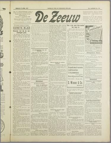 De Zeeuw. Christelijk-historisch nieuwsblad voor Zeeland 1937-04-27
