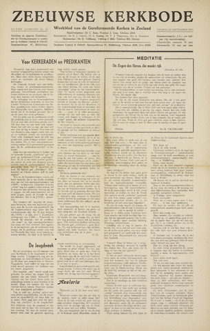 Zeeuwsche kerkbode, weekblad gewijd aan de belangen der gereformeerde kerken/ Zeeuwsch kerkblad 1955-09-23