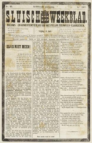 Sluisch Weekblad. Nieuws- en advertentieblad voor Westelijk Zeeuwsch-Vlaanderen 1877-06-08