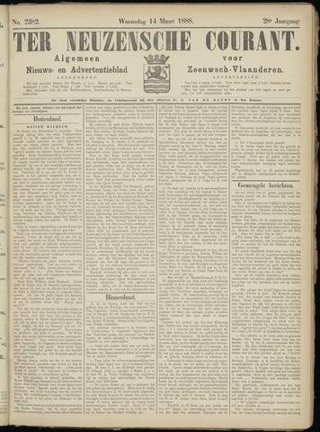 Ter Neuzensche Courant. Algemeen Nieuws- en Advertentieblad voor Zeeuwsch-Vlaanderen / Neuzensche Courant ... (idem) / (Algemeen) nieuws en advertentieblad voor Zeeuwsch-Vlaanderen 1888-03-14