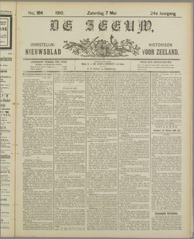 De Zeeuw. Christelijk-historisch nieuwsblad voor Zeeland 1910-05-07